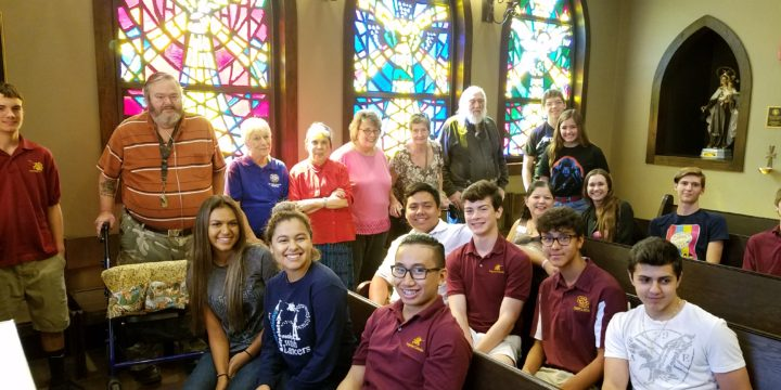 St. Luke Elders Visit Salpointe Catholic High School